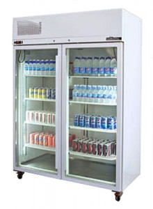 WILLIAMS DIAMOND STAR DOUBLE GLASS DOOR UPRIGHT REFRIGERATED CABINET HDS2GDCB